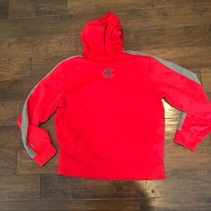 Champion Double Dry hoodie red large sweatshirt
